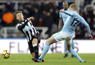 Premier League Soccer, Manchester City, 18th Win, Newcastle United