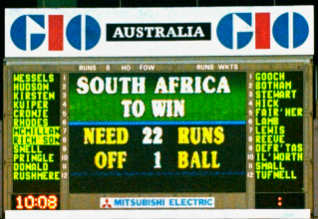 1996 World Cup, Cricket, South Africa