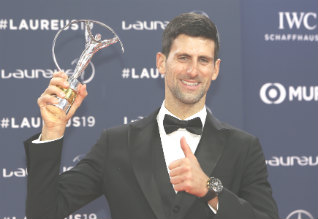 Djokovic wins a fourth Laureus award