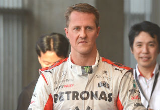 Formula One great Schumacher in Paris for cell therapy