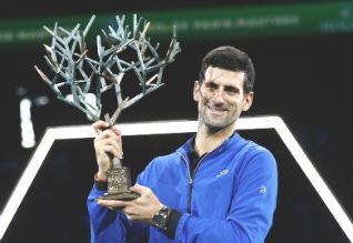 Djokovic cruises past Shapovalov to fifth Bercy title