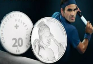 Roger Federer becomes first living Swiss citizen to have coin minted in his honour