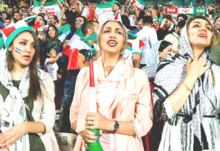 Iranian women allowed to watch football at stadium for first time in decades