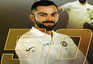 Captain, test cricket 50, kohli, india